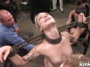 Slave hot girl entertains her husband and his sexy guest.