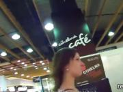 Flawless czech sweetie was teased in the mall and shagged in