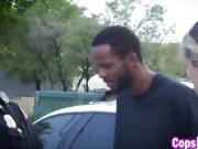 2 horny cops bang black suspect outside