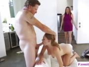 Teen slut gets banged by stepdad