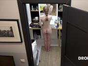 Czech ginger Alexandra - Hiddne spy camera in bathroom