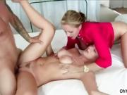 Sexy milf Cory takes control in threeway