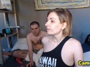 Pretty Russian Babe Sucking Her Partner Till He Cum