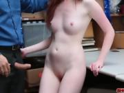 Shoplifter babe Krystal Orchid bangs in her pussy