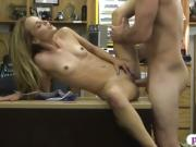 Small breasts babe sucks off and drilled by pawn dude