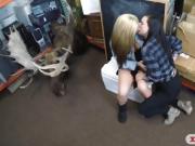 Lesbian couple hard boning with pawn man