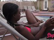 Ebony Stepdaughter Caught Masturbating