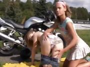 Real virgin teen lezzie biker girls