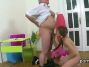 Innocent schoolgirl is seduced and plowed by her older school