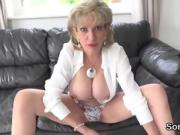 Unfaithful british mature gill ellis reveals her huge titties