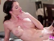 Joseline Kelly gives stepmoms pussy a lick and lesbian sex