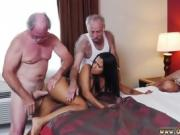 Old man wanking Staycation with a Latin Hottie
