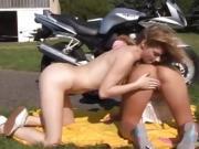 Lesbian police fuck girly-girl biker girls