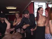 Euro slave fucked in public bar