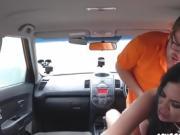 Hot Driving Examiner Jasmine Jae Loves Double Dicking