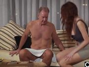 Old Young Porn Natural Teen Takes Grandpa cock pussy