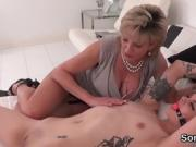 Adulterous english milf lady sonia flashes her large jugs