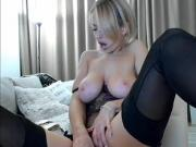 Milf riding her toy front of webcam