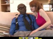 Black Step Dad And Red Head Teen Daughter