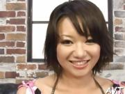 Demure Asian amazes stud with raunchy cowgirl riding