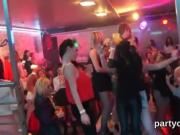 Horny chicks get totally crazy and nude at hardcore party
