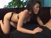 Asian cutie gets pussy licked and ass fucked hard