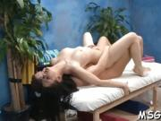 Sweet massage babe looks nice being impaled on hard cock