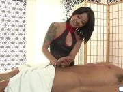 Asian masseuse giving extra sex service