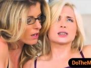 Cory Chase and Piper Perri nasty threeway session in bed
