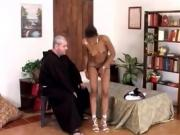 Monk gets treated well by black chick