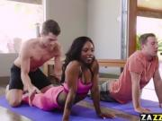 Sarah Banks wants a big cock to suck on after yoga