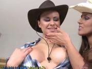 Cowgirl dildo fucks ass
