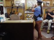 Hot ass officer drilled by pawn keeper