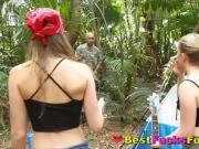 Playful Teens Banging Lost Stranger On Campsite