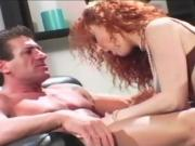 The bigger the better for sexy redhead Audrey Hollander