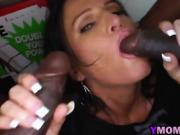 Busty milf pleasing long black cocks in truck