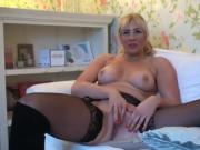 Throatfucked english bird with big tits enjoys fingering hers