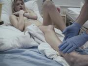 Pervert doctor quietly fucks his patient Arya Fae