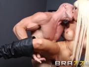BRAZZERS - Smoking Big Tits Blone Rikki Six Gets pounded on t