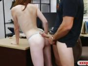 Sweet blonde railed by nasty pawn keeper t the pawnshop