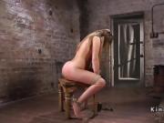 Busty slave in bondage got torment
