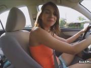 Banging teen big tit uber driver