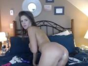 Solo Act With A Gorgeus Brunette Camslut And Her Toy