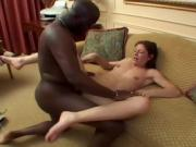 White Amateur Takes His Hard Black Dick In Her Wet Snatch