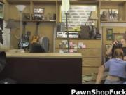 Redheaded Dolly Little Sucking Shlong In Pawn Shop Office