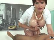 Cheating british milf lady sonia presents her heavy boobs
