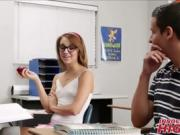 Tiny Schoolgirl Fucks Guy In Classroom