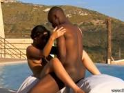 Black Dude Takes His Lady Down To The Pool To Fuck