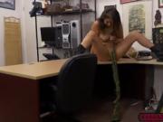 Smoking hot babe Samantha Parker plows a huge cock