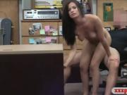 Perky tits babe nailed by pawn keeper at the pawnshop